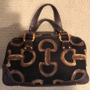 Gucci gg bamboo satchel bag